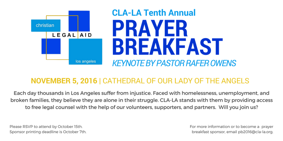 CLA-LA Tenth Annual Prayer Breakfast